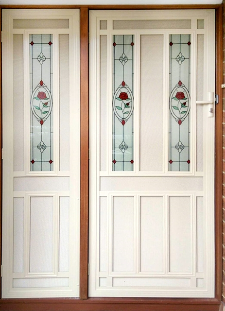 security - screen - doors - stunning-hinges-doors-with-glass-insert